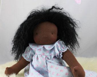 "Waldorf doll Blue Jammies fits 16"" to 18"" doll 3 pc"