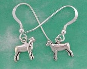 Stock Show Lamb Earrings in Sterling Silver, Great Gift for FFA or 4 H