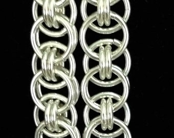 Unique Sterling Parallel Chain Earrings