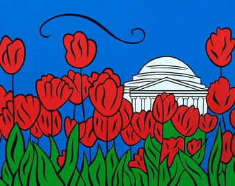 Jefferson Tulip Pop - 11x14 matted print by Joel Traylor