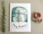 Merry Christmas Card - Christmas Tree - Christmas Card - Blank Card - Christmas Tree Card - Holiday Card - Merry Christmas