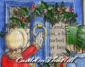 Jane Austen Sense and Sensibility - Christmas - 5 x 7 print