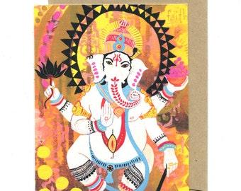 Ganesh of Faith greeting card