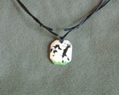 Bone Frolicking Nubian Kid Pendant-Hand Painted 2