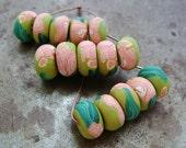 Van Gogh's Oleander Disk Beads