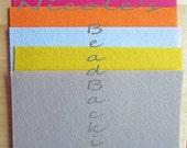 Nicole's BeadBacking 9x6 NBB 5 colors  Bead Embroidery Soutache Shibori Beading Free Tuts