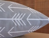 Add Personalization - DESIGNER Pet Bed Duvet Cover - Stuff with Pillows - YOU Choose Fabric - Arrow Storm Grey White shown