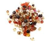 Warm mix of Swarovski Bicone Beads (50X) (S555)