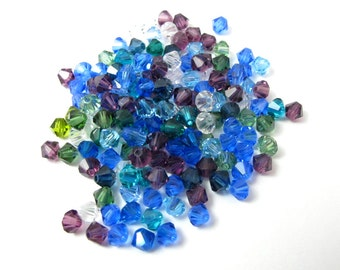 Cool mix of Swarovski Bicone Beads (50X) (S556)