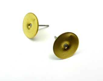 Brass Earring Finding Posts (8 Pairs) (F611)