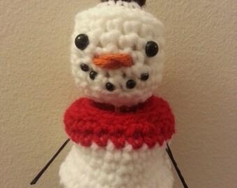 Crochet PDF Pattern- Crochet Marshmallow Snowman