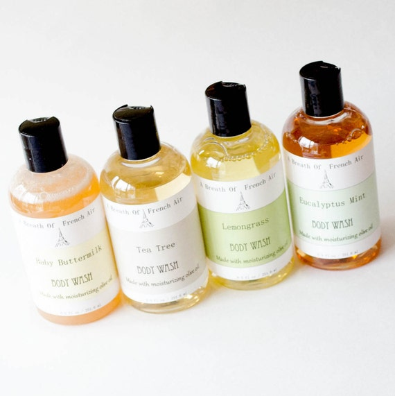 Body Wash Custom Scented Now All Natural Castile Soap, Handmade Liquid Soap 8.5 Ounces Pick Own Scent Organic Raw Cocoa Butter Soap