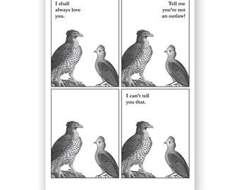 Outlaw Love Birds - Blank Card