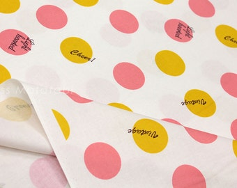 Japanese Fabric Kokka Lighthearted Circles - A - fat quarter