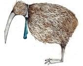 kiwi bird with tie
