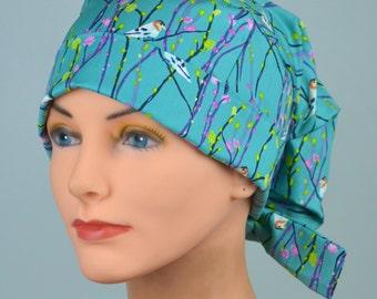Surgical Cap // Small // Fabric Ties // Birdie