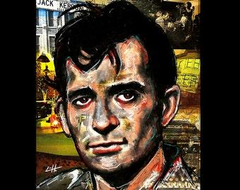 "Print 8x10""  - Jack Kerouac - On the Road Beat Generation Beatnik Poetry Author Novelist Allen Ginsberg Willam S Burroughs Pop Art Books"