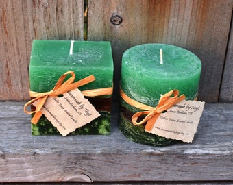 CUSTOM SET of Four to Six Small Scented Pillar Candles