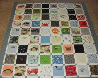 Baby clothes quilt custom made for Belynda