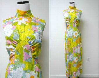 SUNNY AFTERNOON . vintage sleeveless long dress . size 14