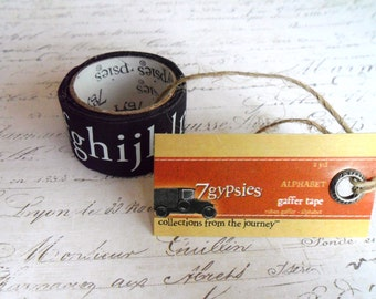 7 Gypsies: Gaffer Tape - Alphabet - Black & White