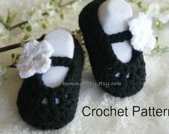 Instant Download, PDF, Crochet Baby Shoes PATTERN
