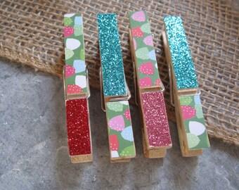 SALE Clothespins - Set of Four Gumdrops