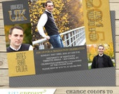 2015 Graduation Invitation Announcement - College or High School