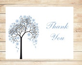 Winter Snowflake Thank You Cards - Winter Stationery