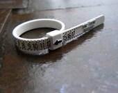 Ring Sizer | Plastic Ring Size Finder | Multisizer | Finger Measurement Ruler | Finger Sizing | Ring Sizing | US Whole and Half Sizes