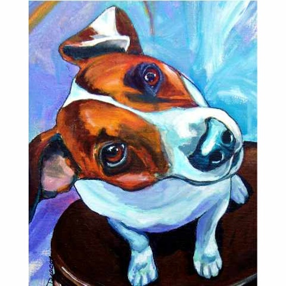 Jack Russell Dog Art Clearance 8x10 Print Of By Dottiedracos