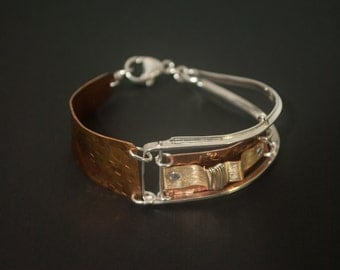 Sterling Silver and Copper Bracelet