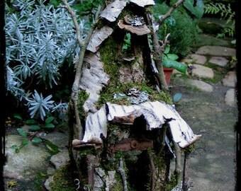Faery House in Birch Bark
