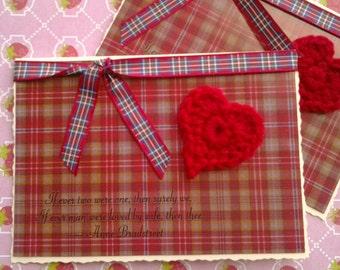 Scottish Themed Husband I Love You, Wedding, Birthday, Valentine Greetings Card, Anne Bradstreet Quote