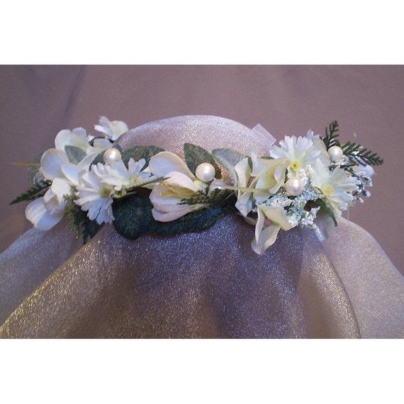 Faerie floral head wreath bridal flower crown renaissance costume womens accessory Imbolc
