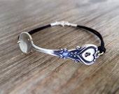Heirloom Spoon Jewelry Bracelet - Silver Brass Spoon - Personalized Spoon Charm - Family Jewelry