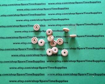 "TW0500WW12 - Mini Toy Wheels - 1/2"" diameter x 3/16"" thick, 1/8"" hole - unfinished wheel - 12 pcs"