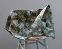 Sea Turtle Diaper Bag Green with Adjustable Strap Six Pockets Custom Colors Available