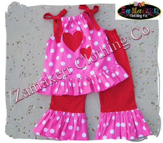 Girls Valentine Day Outfit Set Custom Boutique Clothing Heart Red Pant Toddler Baby Infant Dress 3 6 9 12 18 24 Month Size 2t 3t 4t 5t 6 7 8