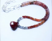 Hannah - Multi Colored Spinel, Ruby and Sterling Silver- Limited Edition Necklace