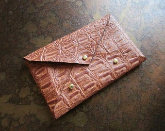 Cognac Leather Card Case