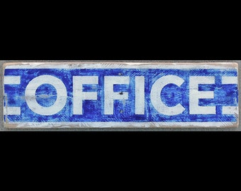 Hot Shot Palletworks, 'OFFICE', Hand Painted, Vintage-looking, Pallet Sign