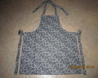 Black Bandana Cotton (solid black backing-no pockets) - Adult Sized Apron * SALE  25% Off - Was 13.00*
