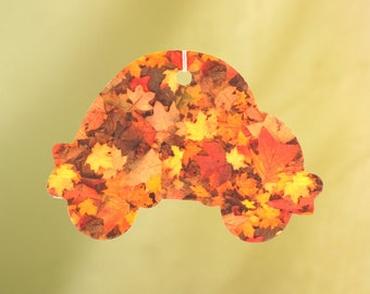 Car with Autumn Leaves Air Freshener