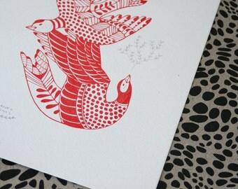 Cala Birds - Original Gocco Print