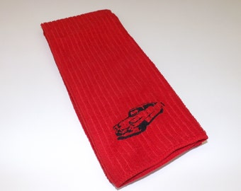 Embroidered Classic Car Kitchen Towel - Choice of Colors