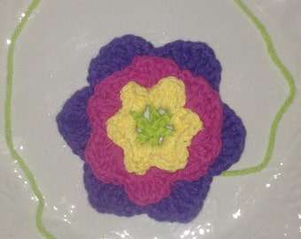 Crocheted 4-Layer Flower w Tail