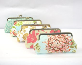 Floral Wedding Bridesmaids Clutch, Bouquet Alternative, Bridesmaid Gift, Personalized Womens Gift - Design Your Own Bridesmaid Gifts