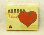 Rare Vintage Twin Pack DIAMOND Chinese Warriors Playing Cards Boxed Set