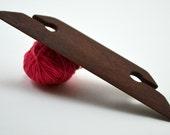 "Beveled Weaving Shuttle For Small Weaving Loom Inkle Loom Tablet Weaving Card Weaving Detail Work - Handcrafted Weaving Tool - Mahogany 4.5"""